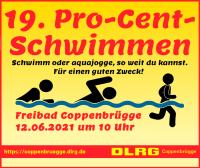 Werbung für das Pro-Cent-Schwimmen